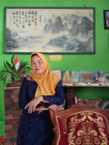 Maria Bo Niok at her home in Wonosobo, Java, 2019.