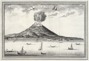 Ternate and Mount Gamalama in 1720