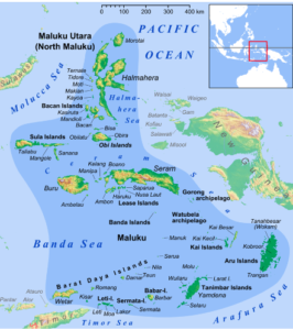 Map of the Maluku Islands