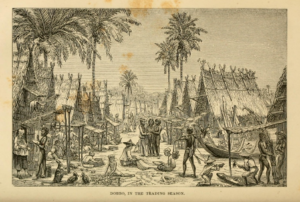 Dobbo [Dobo] in the Trading Season, from 'The Malay Archipelago'